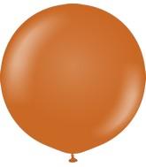 """24"""" Kalisan Latex Balloons Retro Rust Orange (5 Per Bag)"""
