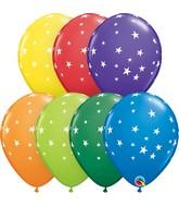 "11"" Latex Balloons Carnival Assorted (50 Per Bag) Contemporary Stars"