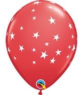 "11"" Latex Balloons Red (50 Per Bag) Contemporary Stars"