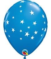 "11"" Latex Balloons Dark Blue (50 Per Bag) Contemporary Stars"