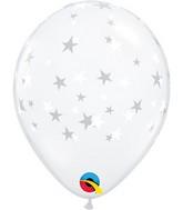 "5"" Latex Balloons Diamond Clear (100 Per Bag) Contemporary Stars"