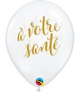 """11"""" Latex Balloons Diamond Clear (50 Per Bag) Simplement A Votre Sante"""