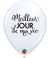 "11"" Latex Balloons White (50 Per Bag) Simplement Meilleur Jour"