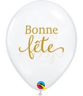 """11"""" Latex Balloons Diamond Clear (50 Per Bag) Simplement Bonne Fete"""