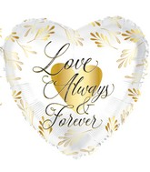 """17"""" Love Always And Forever Foil Balloon"""