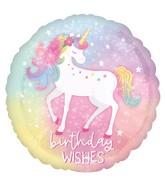 "18"" Enchanted Unicorn Birthday Foil Balloon"
