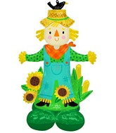 """56"""" Airloonz Consumer Inflatable Scarecrow Foil Balloon"""