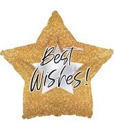 "17"" Best Wishes Glitter Foil Balloon"