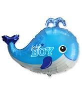 """26"""" Baby Whale Boy Foil Balloon"""
