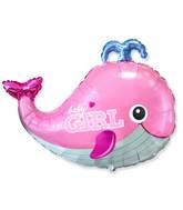 "26"" Baby Whale Girl Foil Balloon"