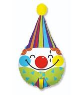 """28"""" Clown Head Foil Balloon"""