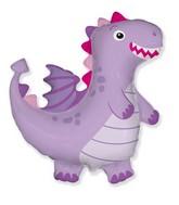 """36"""" Dragon Lilac Foil Balloon"""
