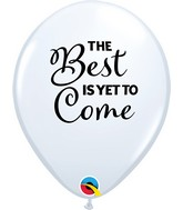 """11"""" Latex Balloons White (50 Per Bag) Simply Best Is Yet To Come"""
