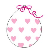 """18"""" Stuffing Balloons (25 Per Bag) Decomex Clear BIG HEART with PINK INK"""