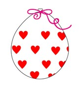 """18"""" Stuffing Balloons (25 Per Bag) Decomex Clear BIG HEART with RED INK"""