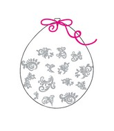 """18"""" Stuffing Balloons (25 Per Bag) Decomex Clear FILIGREE with SILVER INK"""