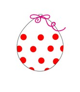 """18"""" Stuffing Balloons (25 Per Bag) Decomex Clear POLKA DOTS with RED INK"""
