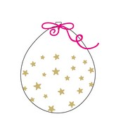 """18"""" Stuffing Balloons (25 Per Bag) Decomex Clear SMALL STAR with GOLD INK"""