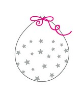 """18"""" Stuffing Balloons (25 Per Bag) Decomex Clear SMALL STAR with SILVER INK"""