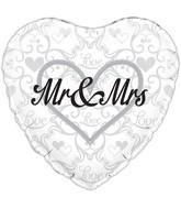"""18"""" Mr & Mrs Oaktree Foil Balloon"""