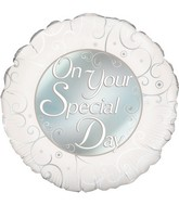 """18"""" On Your Special day Oaktree Foil Balloon"""