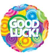 "18"" Good Luck Rainbow Circles Oaktree Foil Balloon"