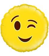 """18"""" Wink Emoji Oaktree Foil Balloon"""