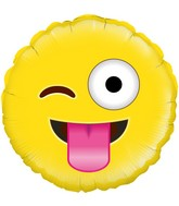 "18"" Crazy Emoji Oaktree Foil Balloon"
