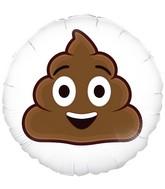 "18"" Smiling Poop Emoji Oaktree Foil Balloon"