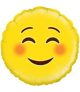 "18"" Smile Emoji Oaktree Foil Balloon"