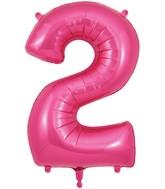 "34"" Number 2 Pink Oaktree Foil Balloon"