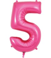 "34"" Number 5 Pink Oaktree Foil Balloon"