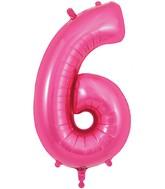 "34"" Number 6 Pink Oaktree Foil Balloon"