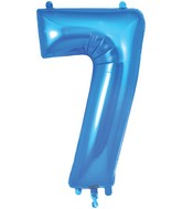 "34"" Number 7 Blue Oaktree Foil Balloon"