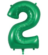 "34"" Number 2 Green Oaktree Foil Balloon"