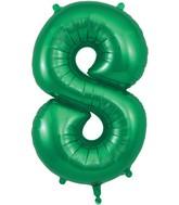 "34"" Number 8 Green Oaktree Foil Balloon"