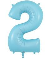 "34"" Number 2 Matte Blue Oaktree Foil Balloon"