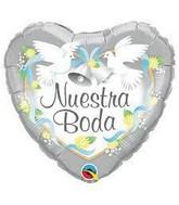 """18"""" Nuestra Boda Heart Foil Balloon"""