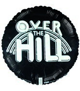 """4"""" Airfill Over the Hill Black Birthday"""