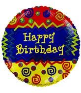 "4"" Airfill Happy Birthday SouthWestern Balloon"