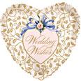 """18"""" Wedding Wishes Filigree Background"""