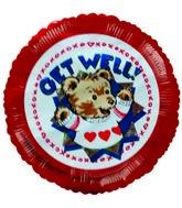"""4"""" Airfill Get Well Soon Teddy Bear Sweater Balloons"""