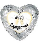 "17"" Happy Engagement Foil Balloon"