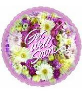 "4"" Airfill Get Well Wreath of Flowers"