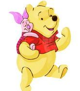 "32"" Winnie the Pooh and Piglet Mylar Balloon"