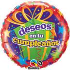 """18"""" Deseos En Tu Cumpleanos Balloon"""