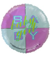 "4"" Airfill Baby Girl Block Balloon"