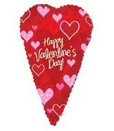 "25"" Happy Valentine's Day Skinny Heart"