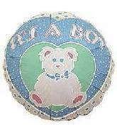 "4"" Airfill It's a Boy Bear Balloon"