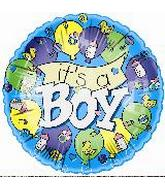 """4"""" Airfill It's a Boy Banner"""